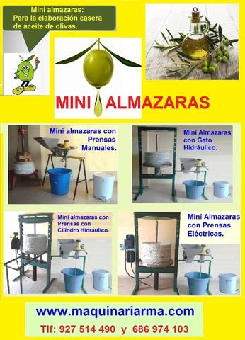 MINIALMAZARAS. MOLINOS ACEITUNAS OLIVAS