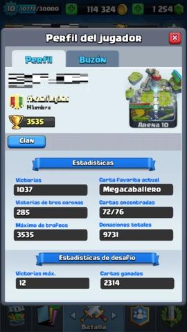 CUENTA CLASH ROYALE 3500 COPAS 100K ORO