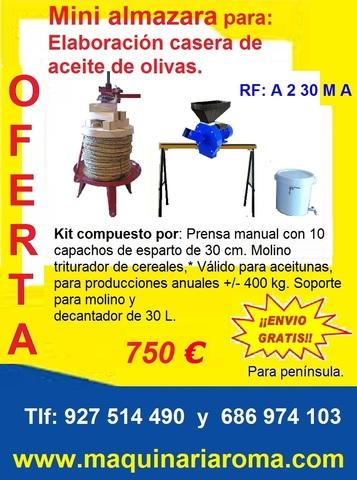 ALMAZARAS CASERA PARA ACEITE DE OLIVA