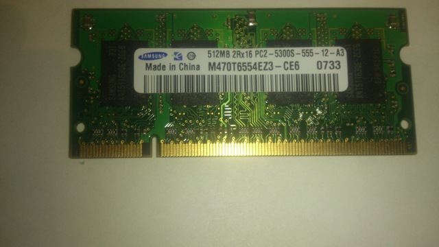 SAMSUNG RAM PORTATIL DDR2 512MB