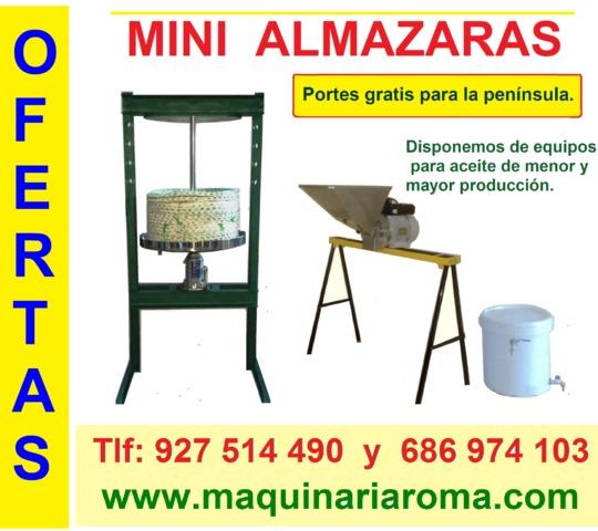 MINI ALMAZARAS CON GATO HIDRÁULICO
