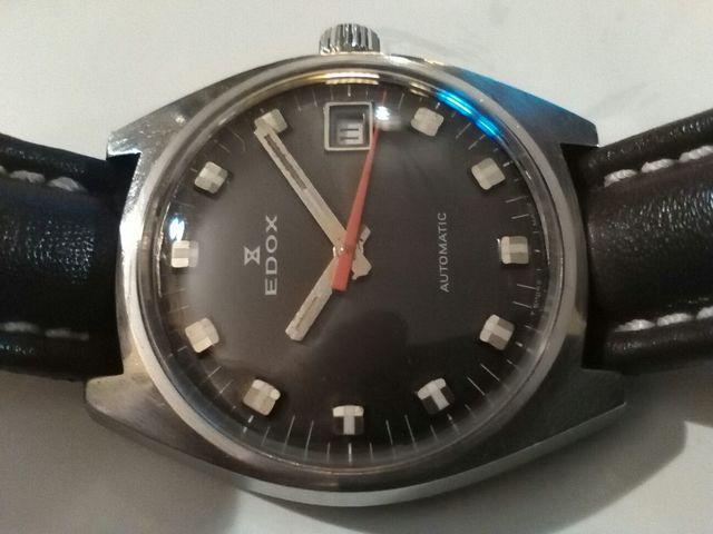 Reloj Edox Militar Automatico Vintage