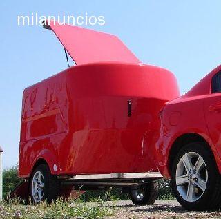 REMOLQUE CERRADO FIBRA MOTOS QUADS TRIAL - foto 2
