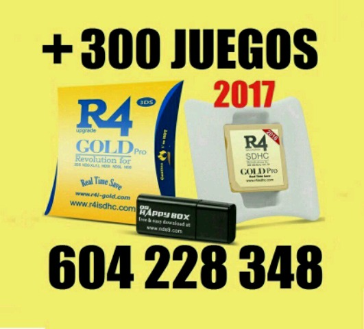 TARJETAS R4I-GOLD 2017 300 JUEGOS DS