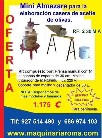 MINIALMAZARA MANUAL, CAPACHOS DE 40 CM