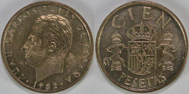 Juan Carlos I 100 Pesetas Año: 1982