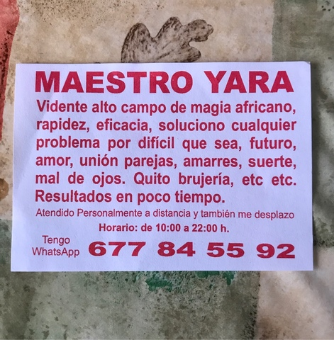 PROFESOR YARA GRAN VIDENTE ESPIRITUAL