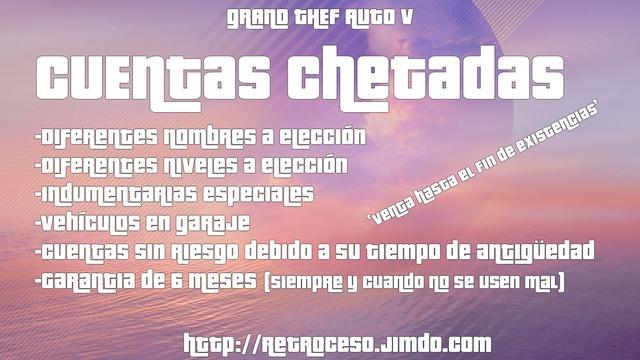 CUENTAS GTA 5 PS4 XBOX (TRANSFERIDAS)