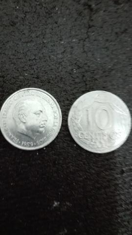 1959 Franco 10 Centimos 2 Monedas