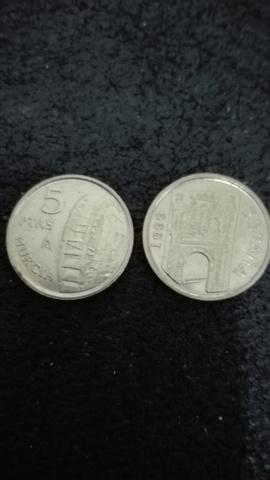 2 Monedas Juan Carlos I 5 Pesetas 1999