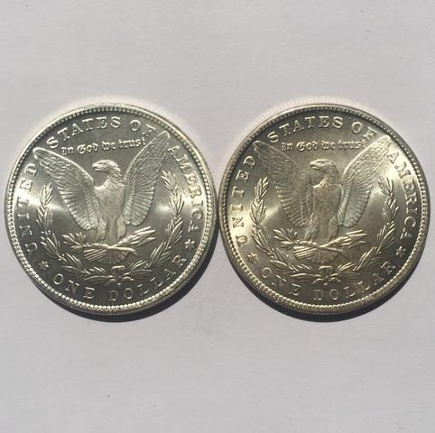 Un Dolar Usa Con Dos Caras Iguales Del A