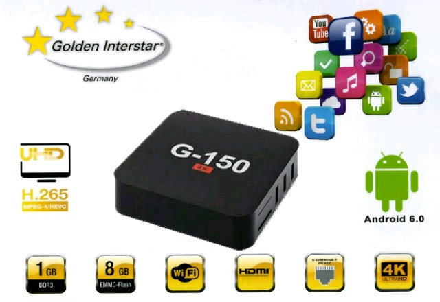 TV BOX ANDROID 6. 0 NUEVO G-150 4K
