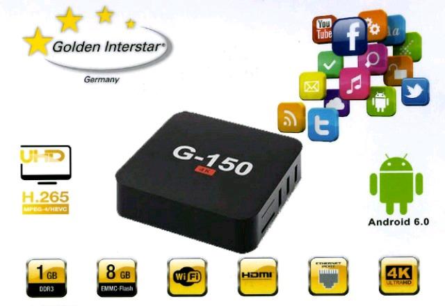 TV BOX ANDROID 6. 0 NUEVO 4K G-150
