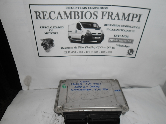 CENTRALITA MOTOR ECU SEAT IBIZA, CORDOBA