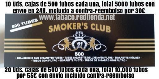 TUBOS ENTUBAR SMOKER PREMIUN CALIDAD