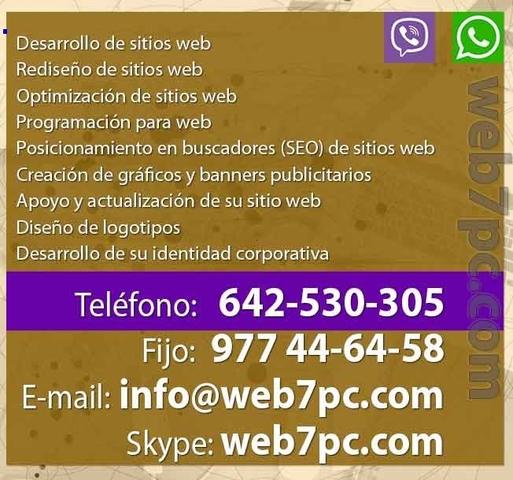 DISEÑO WEB SOLO POR 150 ! EN CUENCA