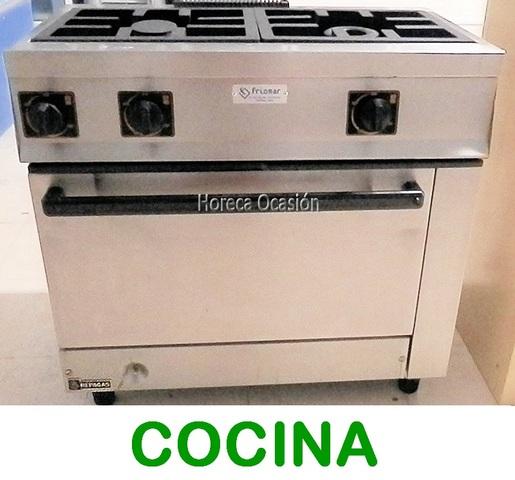 6505 COCINA 2 FUEGOS HORNO REPAGAS