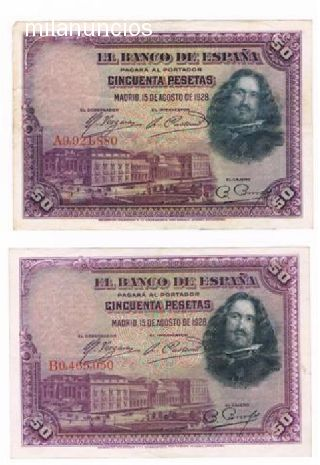 Billete De 50 Pesetas De 1928