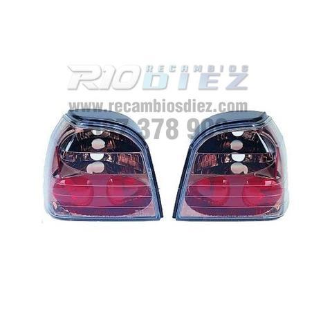 PILOTOS VW GOLF 3, 91-97 CROMO AHUMADO