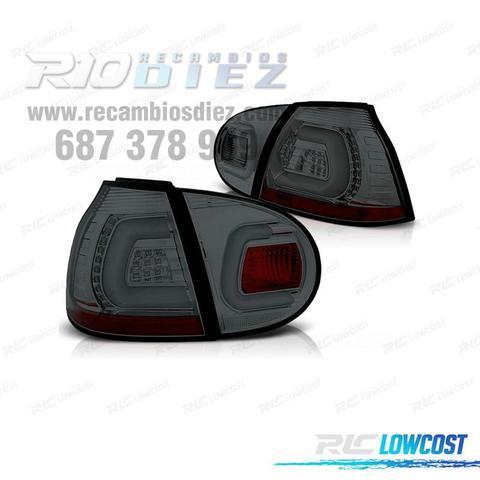 PILOTOS VW GOLF 5 LIGHTBAR CROMO AHUMADO