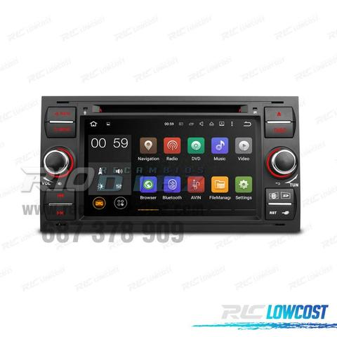 RADIO ANDROID FORD NEGRO USB GPS HD