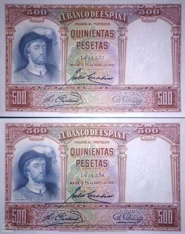 Pareja 500 Pts 1931,Sc/Plancha