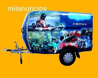 REMOLQUE CERRADO MOTOS FIBRA QUADS KART - foto 1