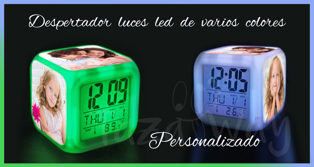 Despertador Luces Led Personalizado