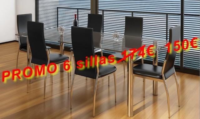 De A Barcelona Comedor 6 Sillas Cuero gyY76vbf