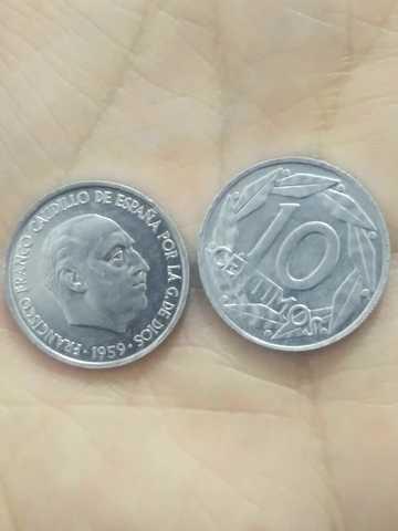 6 Monedas 10 Centimos 1959