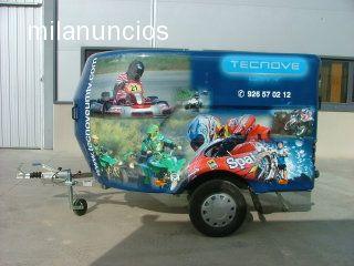 REMOLQUE CERRADO MOTOS QUADS KART FIBRA - foto 4