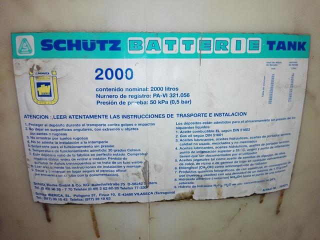 DEPOSITO DE GASOIL 2000 LITROS - foto 5