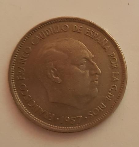 25 Pesetas De Franco
