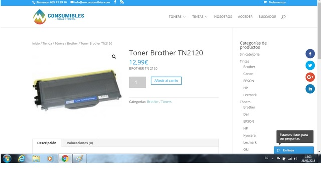 TONER BROTHER TN2120 - foto 1
