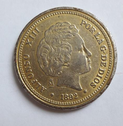 Moneda 20-Pesetas De España, 1892