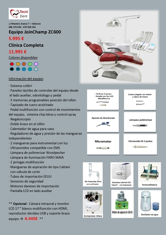 CLINICA DENTAL COMPLETA JOINCHAMP ZS600 - foto 1