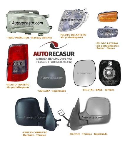 Peugeot Partner Copiloto Imprimada Carcasa Citroen Berlingo 96=/>08 96=/>08