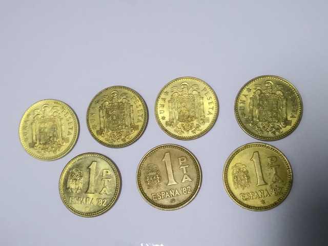 Serie Monedas 1 Peseta Rubia Juan Carlos