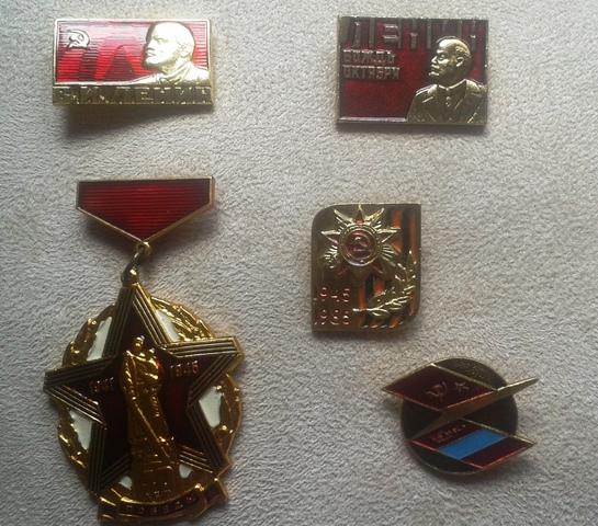 5 Insignias Originales Urss. Moscú 1980
