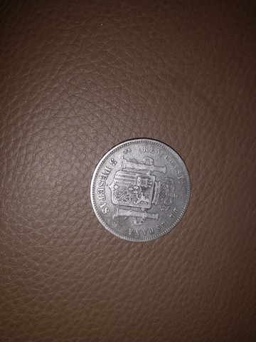 Moneda 5 Pesetas Año 1888