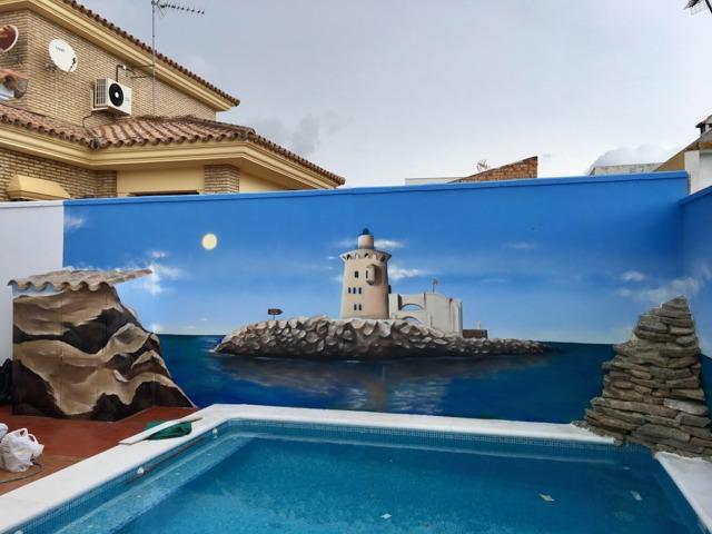 Mil Anuncios Com Mural Decoración Terraza Patio Piscina