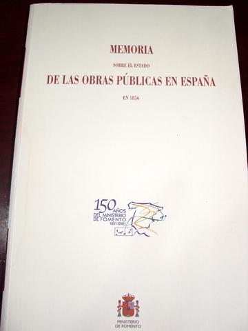MEMORIA OBRAS PUBLICAS ESPAÑA 1856 - foto 1