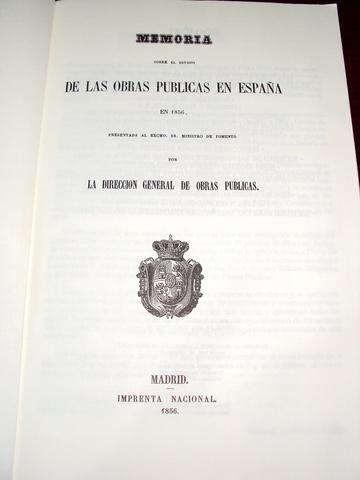 MEMORIA OBRAS PUBLICAS ESPAÑA 1856 - foto 2
