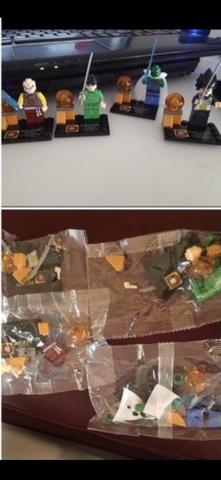 Lote 10 Figura Dragon Ball Lego