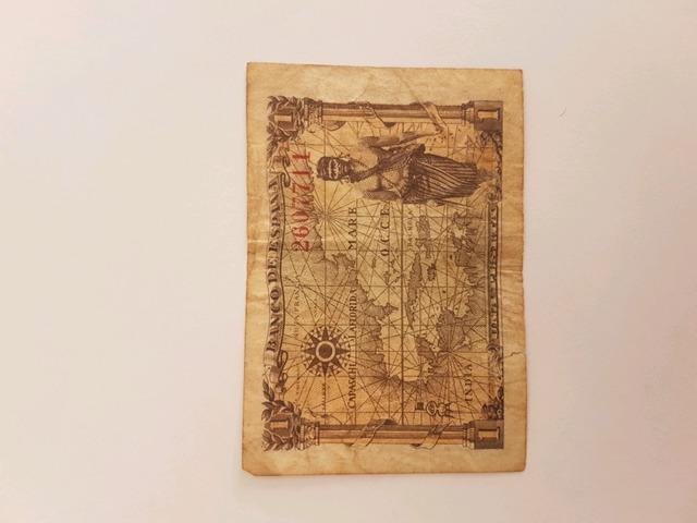 Billete De 1 Peseta Del Año 1945