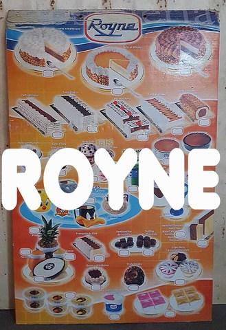 Cartel Helados Royne