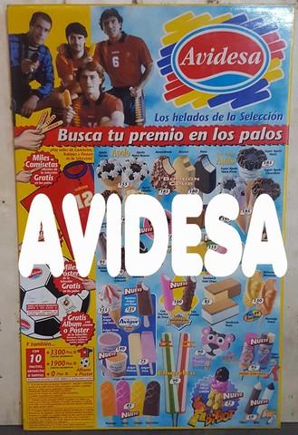 Cartel Helados Avidesa