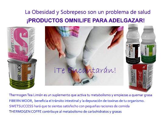 Productos para bajar de peso con omnilife