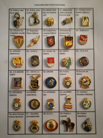 Placas Pin De Policia Nacional