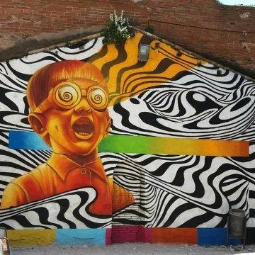 MURAL CON GRAFFITI,  ROTULOS,  CARTELES PI - foto 1